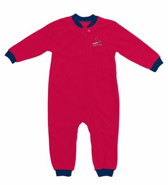 St Louis Cardinals Fleece Toddler Sleeper Pajamas