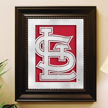 St Louis Cardinals Framed Laser Cut Metal Wall Art