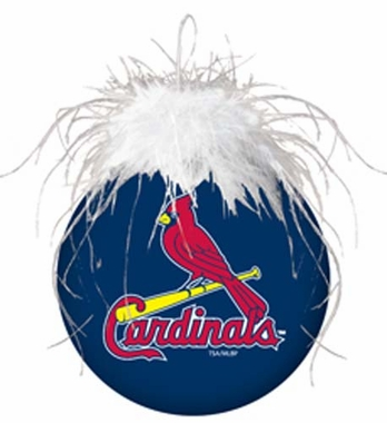 St Louis Cardinals Glass Ball Ornament