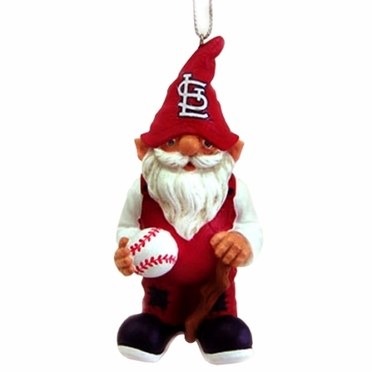 St Louis Cardinals Gnome Christmas Ornament