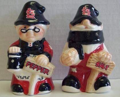 St Louis Cardinals Gnome Salt & Pepper Shakers