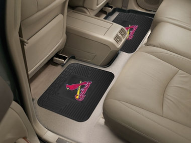 St Louis Cardinals SET OF 2 Heavy Duty Vinyl Rear Car Mats