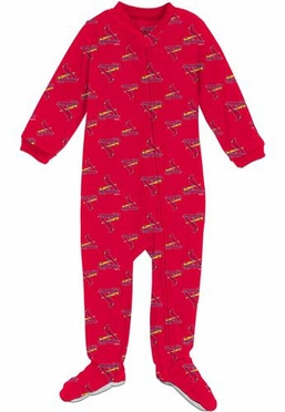 St Louis Cardinals Infant Footed Coverall Sleeper