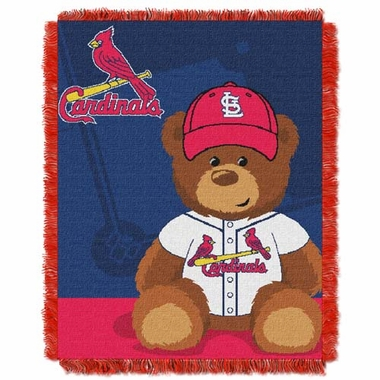 St Louis Cardinals Jacquard BABY Throw Blanket