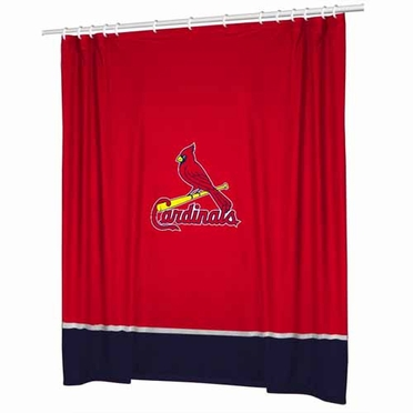 St Louis Cardinals Jersey Material Shower Curtain