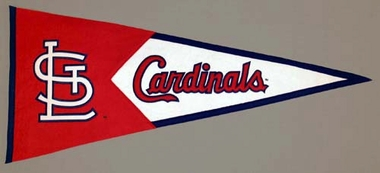 St Louis Cardinals Large Wool Pennant