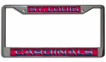 St Louis Cardinals Laser Etched Chrome License Plate Frame