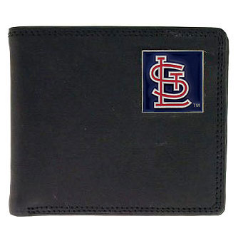 St Louis Cardinals Leather Bifold Wallet (F)