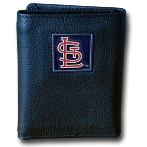 St Louis Cardinals Leather Trifold Wallet (F)