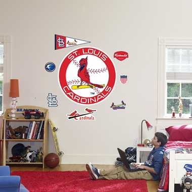 St Louis Cardinals Logo (Throwback) Fathead Wall Graphic