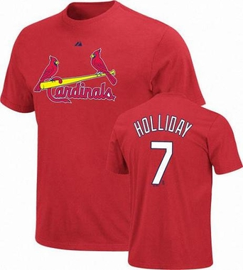 St Louis Cardinals Matt Holliday Name and Number T-Shirt