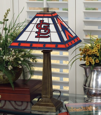 St Louis Cardinals Mission Lamp