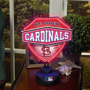 St Louis Cardinals Neon Shield Table Lamp