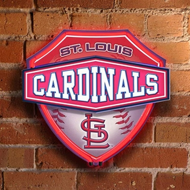 St Louis Cardinals Neon Shield Wall Lamp