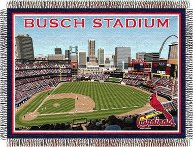 St Louis Cardinals New Busch Field Woven Tapestry Blanket