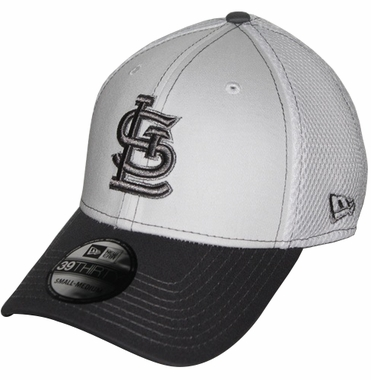 St. Louis Cardinals New Era 39THIRTY Blitz Neo Fitted Hat - Gray