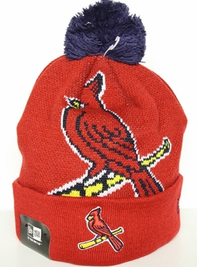 St. Louis Cardinals New Era Woven Biggie Cuffed Knit Hat