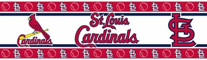 St Louis Cardinals Peel and Stick Wallpaper Border