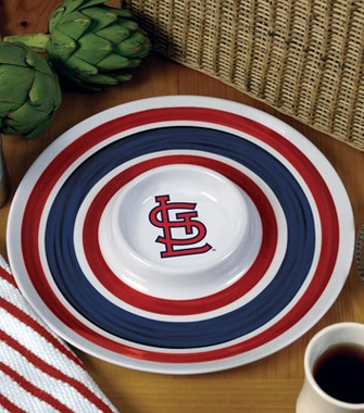 St Louis Cardinals Plastic Chip and Dip Plate