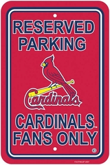 St Louis Cardinals Plastic Parking Sign (P)