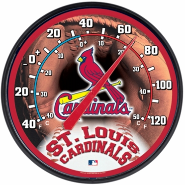 St Louis Cardinals Round Wall Thermometer