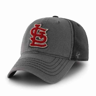 St. Louis Cardinals Saluki Stretch Fit Hat - Charcoal