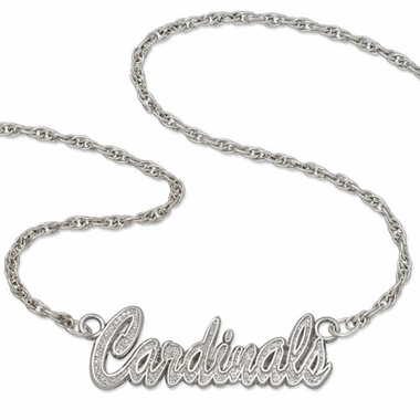St Louis Cardinals Script Necklace