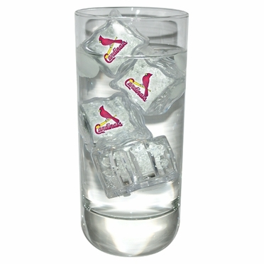St Louis Cardinals Set of 4 Light Up Ice Cubes