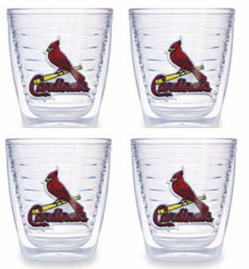 St Louis Cardinals Set of FOUR 12 oz. Tervis Tumblers