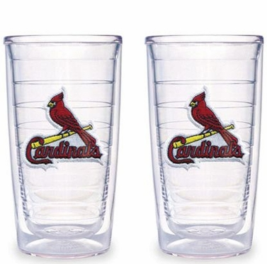 St Louis Cardinals Set of TWO 16 oz. Tervis Tumblers