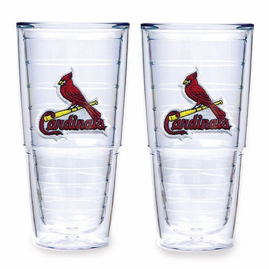 "St Louis Cardinals Set of TWO 24 oz. ""Big T"" Tervis Tumblers"