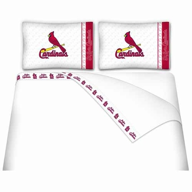 St Louis Cardinals Sheet Set - Queen