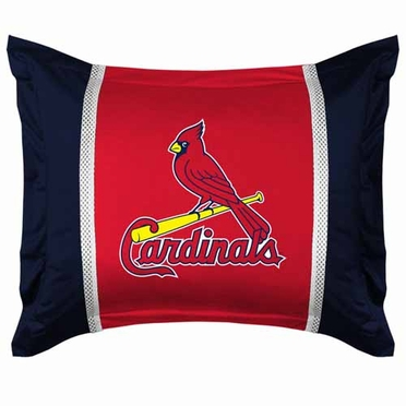St Louis Cardinals SIDELINES Jersey Material Pillow Sham