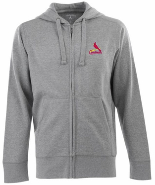 St Louis Cardinals Mens Signature Full Zip Hooded Sweatshirt (Color: Gray)