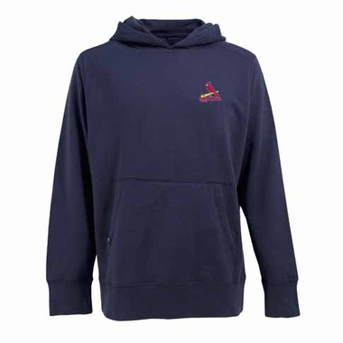 St Louis Cardinals Mens Signature Hooded Sweatshirt (Alternate Color: Navy)