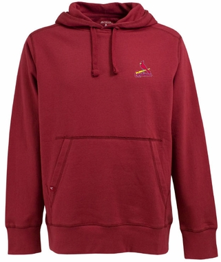 St Louis Cardinals Mens Signature Hooded Sweatshirt (Team Color: Red)