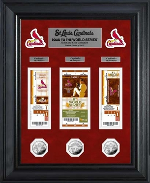 St. Louis Cardinals St. Louis Cardinals Road to the WS Ticket and Coin Collection