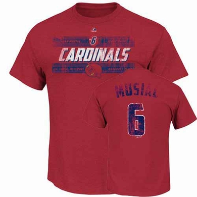 St. Louis Cardinals Stan Musial Cooperstown Driven by Results Player T-Shirt - Red