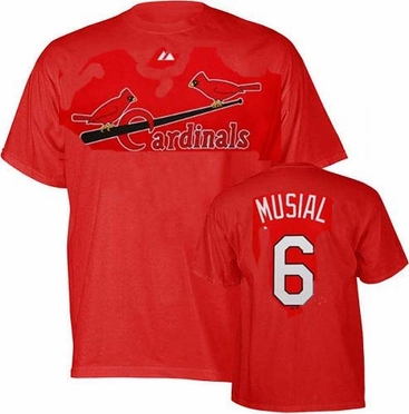 St Louis Cardinals Stan Musial Name and Number T-Shirt