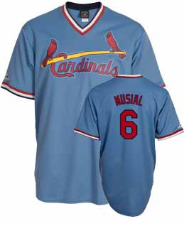 St Louis Cardinals Stan Musial Replica Throwback Jersey