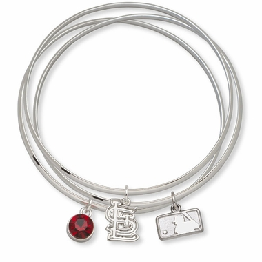 St Louis Cardinals Triple Bangle Bracelet