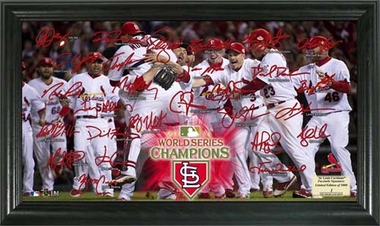 St. Louis Cardinals 2011 World Series Champions Celebration Signature Field