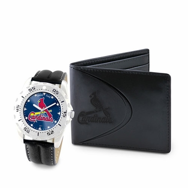 St Louis Cardinals Watch and Wallet Gift Set