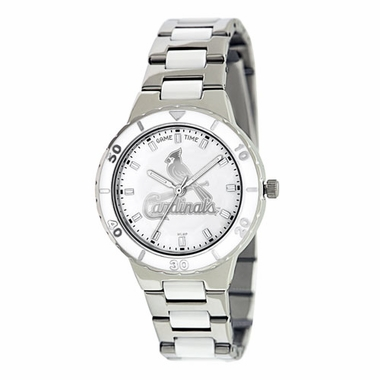 St Louis Cardinals Women's Pearl Watch