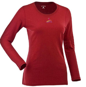 St Louis Cardinals Womens Relax Long Sleeve Tee (Team Color: Red) - Large