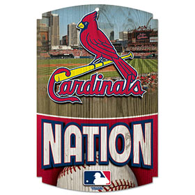 St Louis Cardinals Wood Sign