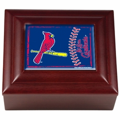 St Louis Cardinals Wooden Keepsake Box