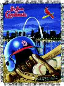 St Louis Cardinals Woven Tapestry Throw Blanket