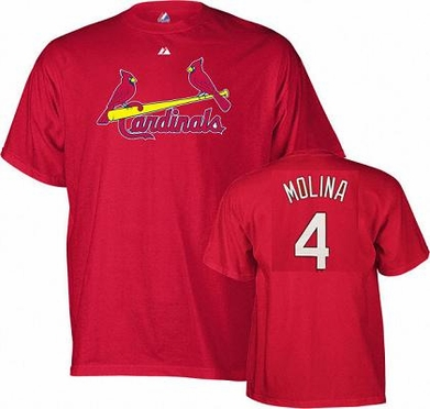 St Louis Cardinals Yadier Molina YOUTH Name and Number T-Shirt