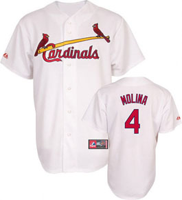 St Louis Cardinals Yadier Molina YOUTH Replica Player Jersey - Large
